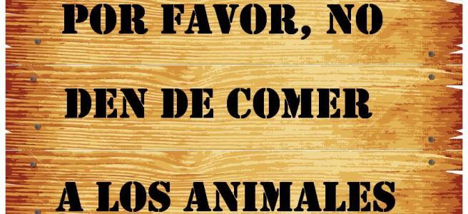 No den de comer a los animales