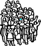Niño entra la multitud