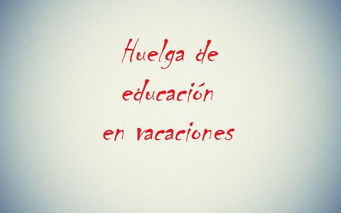 Educación en vacaciones